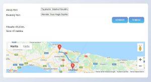 google-map-Distance-Matrix-Api